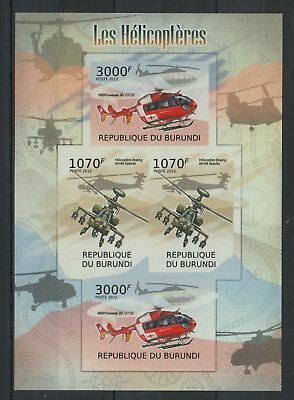S35. Burundi - MNH - Transport - Helicopter - 2012 - Imperf