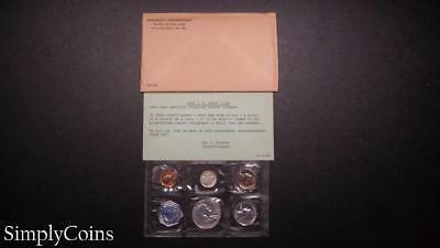 1958 Proof Set ~ Original Envelope With COA ~ US Mint Silver Coin Lot SKU-651