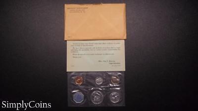 1960 Proof Set ~ Original Envelope With COA ~ US Mint Silver Coin Lot SKU-660