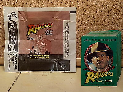 "Indiana Jones ""raiders Of The Lost Ark"" & ""temple Of Doom"" Collector Cards..l@@k"