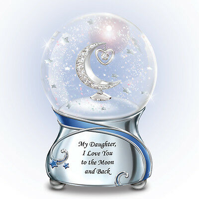 Daughter I love You To The Moon and Back Snow Globe / Water Globe