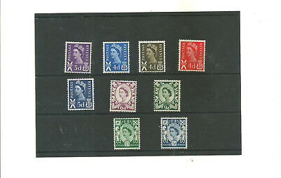 Scotland   set of 9  regional mint stamps dated 1958-69