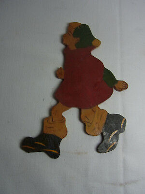 Vintage German Wood Fretwork Girl #BE