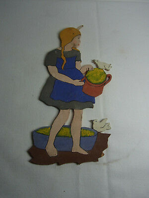 Vintage German Wood Fretwork Cinderella #BE
