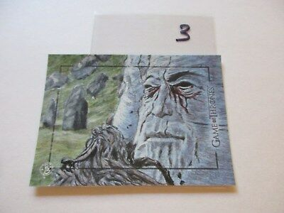 Game of Thrones Valyrian Steel Color Sketch Card by Dan Bergen - 03