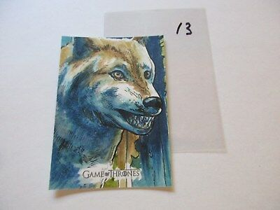 Game of Thrones Valyrian Steel Color Sketch Card by Dan Gorman - 13