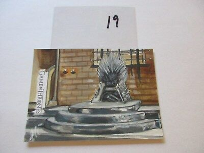 Game of Thrones Valyrian Steel Color Sketch Card by Lee Lightfoot - 19