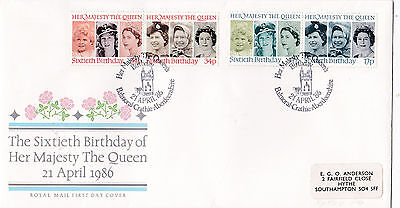 First Day Cover - Queens 60th Birthday - Special Cancellation - 1986 (A850)