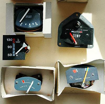 5 assorted Smiths temp and fuel gauges, new and unused (post Free)