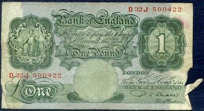 1950 Bank Of England £1 : One Pound