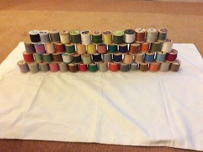 58 x cotton sewing thread reels