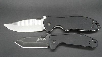 Lot of 2 Kershaw Folding Knives - Emerson Knife Designs - 6014TBLK & 6034