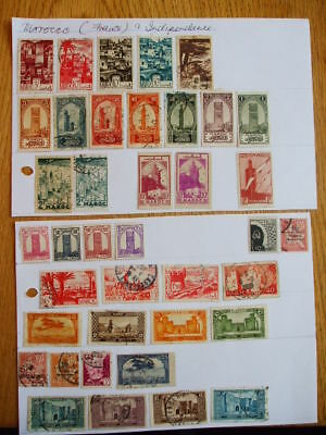 A Selection Of Mounted Mint & Used Stamps France-States Morocco