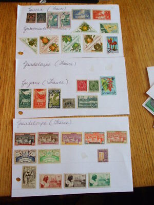 A Selection Of Mounted Mint & Used Stamps France-States