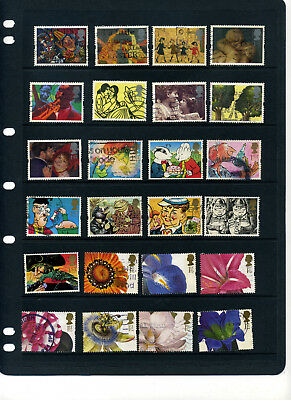 GB 40 different Greetings/ Smiles stamps