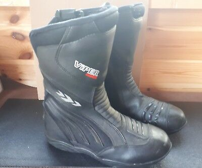 ViPER Rider 856 Motorbike Motorcycle Scooter Touring Boots Waterproof - SIZE 6