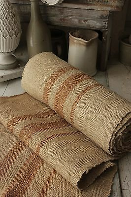 Grain sack grainsack fabric 8.6yd GOLD Antique linen HEMP organic hemp material