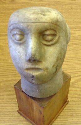 Ancient Antiquity Middle eastern marble head statue Turkish? No reserve
