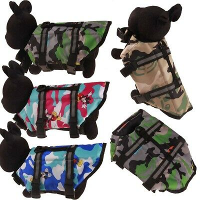 UK Adjustable Pet Dog Buoyancy Aid Life Jacket Swimming Boating Safety Vest Suit