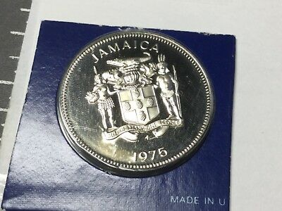 JAMAICA 1975 25 Cent coin proof