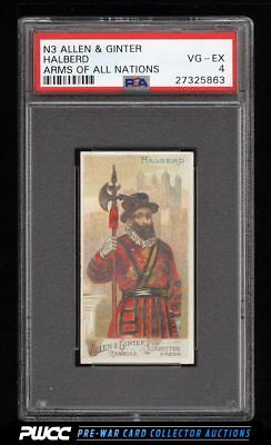 1887 N3 Allen & Ginter Arms Of All Nations Halberd PSA 4 VGEX (PWCC)