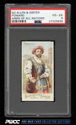 1887 N3 Allen & Ginter Arms Of All Nations Poniard PSA 4 VGEX (PWCC)