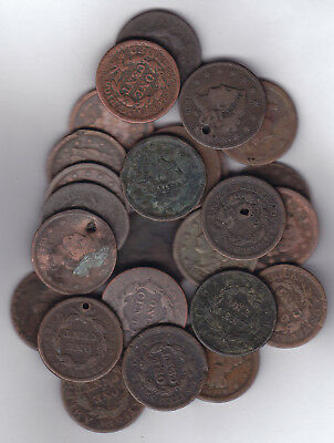 1800 - 1857 Usa Large Cents Lot Of 25