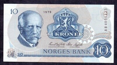 10 Kroner From Norway 1979 Unc