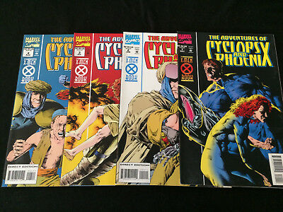THE ADVENTURES OF CYCLOPS AND PHOENIX #1-4 Complete Mini-Series VFNM Condition