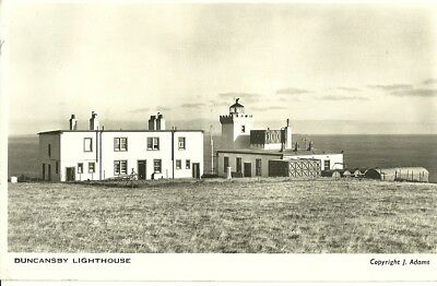 Duncansby (Head) Lighthouse 1956 J Adams Real Photo Postcard