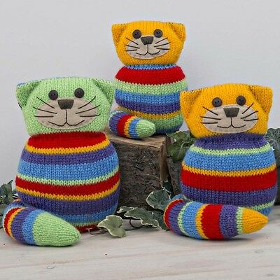 Twilleys KNITTING KIT to knit CRAZY CATS. CUTE, CUDDLY, CREATIVE GIFT IDEA