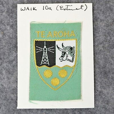 Collection Rare New Zealand District Boy Scout Badges - Te Aroha WAIK 10