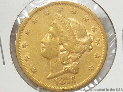 1876-S US $20 Twenty Dollar Gold Coin Double Eagle Liberty Head Currency