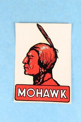Vintage Durochrome Mohawk Motor Oil Water Decal Window Sticker Unused