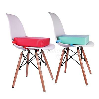 Children Kids Faux Leather Portable Dining Chair Booster Cushion Soft Seat Mat