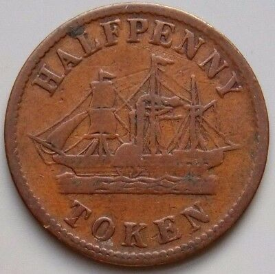 PE-8A2 Prince Edward Island Canada Canadian Colonial Token Paddle Steamer Ship