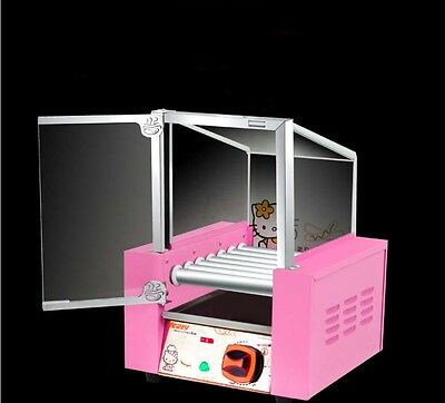 New Commercial 7 Tube Stainless Steel Sausage Machine Hotdog Maker With Door *