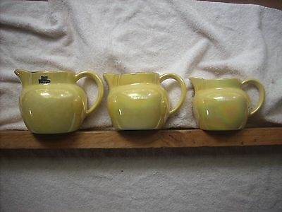 Pates Graduated Yellow Lustre Jugs X 3 Or Can Be Sold Individually