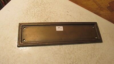 Antique Brass Plated Steel Door Plate  No. 2