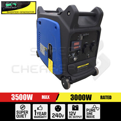 Remote Start 4 Stroke Pure Sine Wave Camping Inverter Power Generator 3.5KW Rate