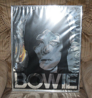 David Bowie Big Shots Poster New Orleans 1970s Ziggy Silver Foil Style Framed