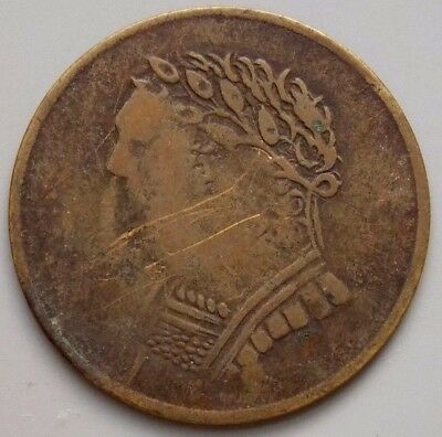 1820 LC-60E3 Lower Canada Canadian Colonial 1/2 Penny Bust & Harp Token