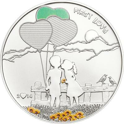 Cook Islands 2014 $5 Paint Your Coin - First Love 20g Silver Coin Watercolor Set