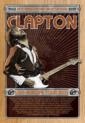 Eric Clapton 2013 Tour Poster Brown Limited Edtion Screen Print By Ron Donovan