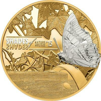 Cook 2015 $5 Shades of Nature - Butterfly 25 g Silver Proof Coin