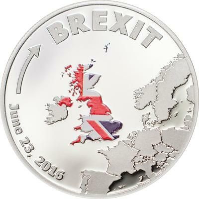Cook Islands 2016 1 Dollar Brexit UK chose to Leave EU 3g Silver Proof Coin