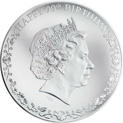 Cook Islands 2016 20$ Silver Coin 3Oz Happy 90th Birthday Queen Elisabeth II