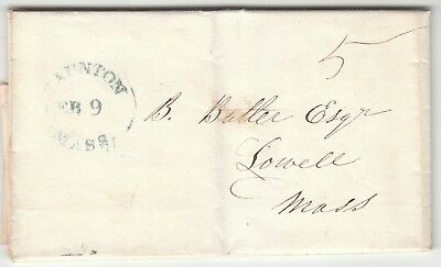 1846 Stampless Letter To Benjamin F. Butler - Civil War General   Signed On Back