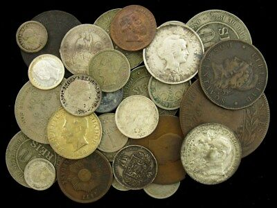 Lot of Over 25 South American Coins dated 1835-1960 - Many Silver - ASW .945 oz