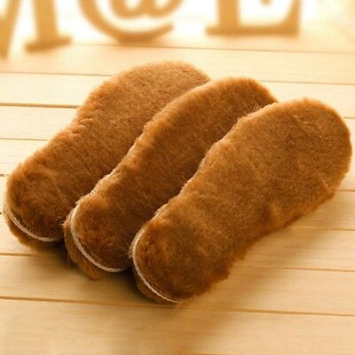 Unisex Thick Sheepskin & Lambswool Shoe Boots Boot Insoles Insole Inner Soles
